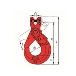 G80 U.S. TYPE CLEVIS SELF-LOCKING HOOK