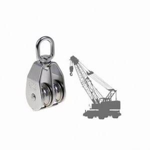 double sheave swivel pulley