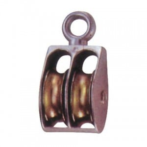 die casting double with eye pulley