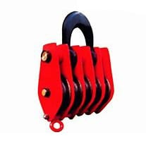 5 wheels large pulley block