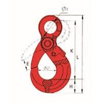 G80 U.S. TYPE EYE SELF-LOCKING HOOK